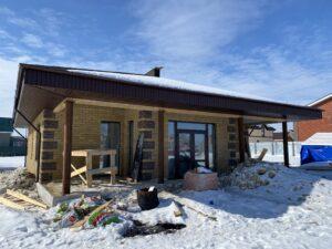 Дом в Вязовке, этапы строительства